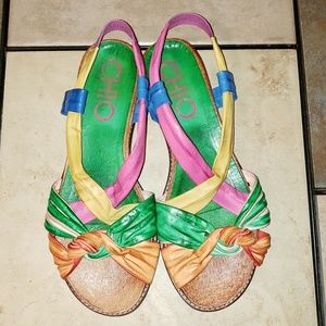 Anthropologie | Chio Slingback Sandals size 39